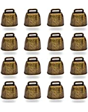 16PCS Vintage Style Metal Cow Bell, Premium Cowbell for Grazing Cattle, Horses and Sheep, Animal Anti-Lost Accessories Bell,Often Used in Festive Cheering Loudly Calling Bell
