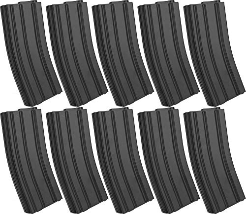 Evike 6mmProShop 110rd Midcap Magazine for M4 M16 Series Airsoft AEG Rifles (Color: Black/Set of 10)