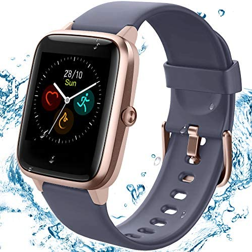 [2020 Latest] High-End Fitness Trackers,Health Sports Smart Watch with Heart Rate & Sleep Monitor,Calorie Step Counter,1.3″ Touch Screen,IP68 Waterproof Pedometer Activity Trackers for Kids Women Men