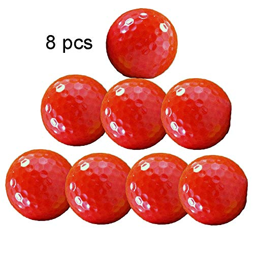 Sviper-sport Golf Balls Set Red Golf Color Three-Layer Golf Game Ball Solid Color Wear-Resistant Synthetic Rubber Golf Ball for Men Women Boys Girls,Pack of 8 (Color : C1, Size : Diameter 42.6mm) ()