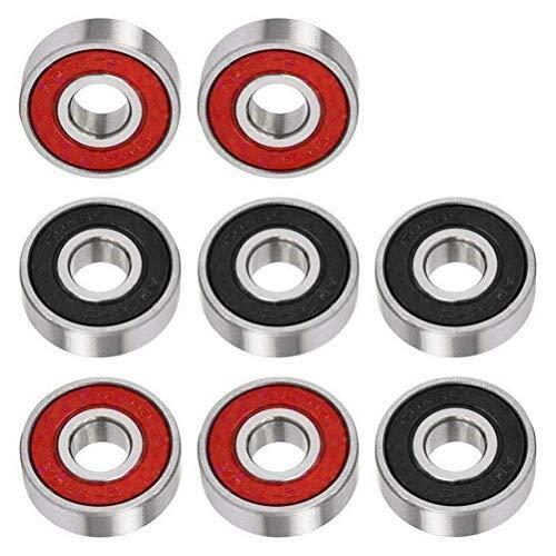 8 Pcs 608zz Roller Skate Scooter Skateboard Wheels Double Shielded Bearings UK