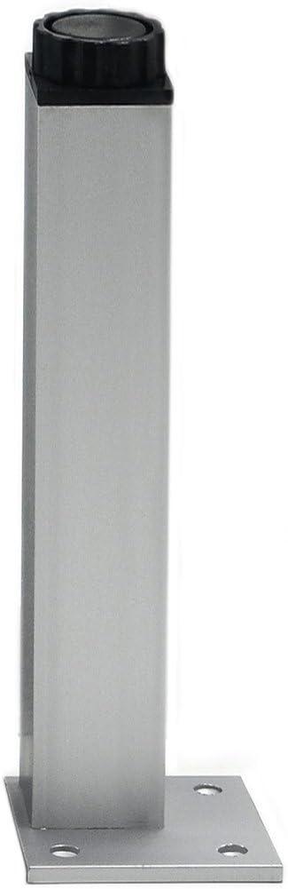 Angelakerry 4pcs 40cm Furniture Legs Cabinet Feet Aluminum Metal Leg Table Adjustable Square Base