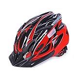 IFLYING Eco-Friendly Super Light Integrally Bike Helmet,Adjustable Lightweight Mountain Road Bike Helmets for Men and Women (Red)
