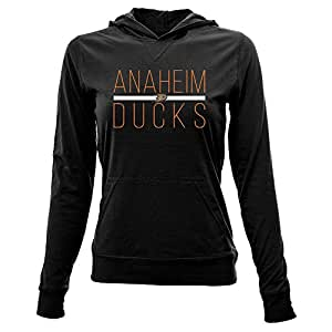 NHL Anaheim Ducks Women's Recovery Line Em Up Pullover Hooded Mid-Layer Apparel, Small, Black