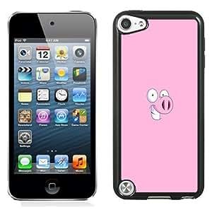 NEW Unique Custom Designed iPod Touch 5 Phone Case With Pig Cartoon Minimal Illustration_Black Phone Case