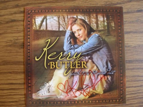 Signed CD from Kerry Butler titled Faith, Trust and Pixie Dust. Autographed by Kerry Butler (Autographed Bats Shop)