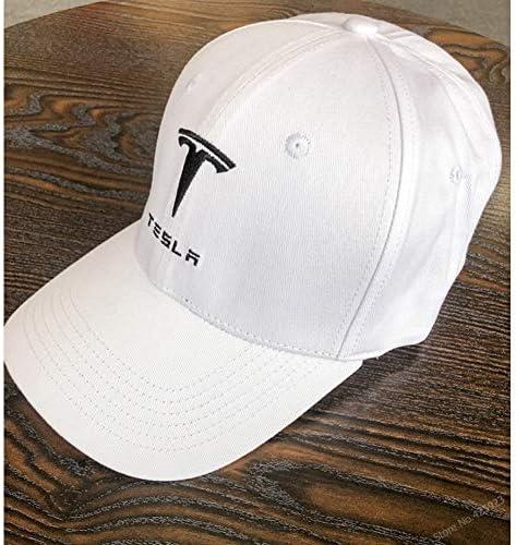 VKGJMHD Nouveau Style pour 4 Saisons De Broderie De Couleur Unie Tesla Casquette De Baseball Casquette en Coton Chapeaux R/églable Fans De Voiture Casquettes