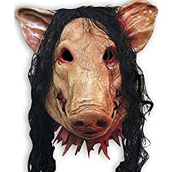 HAOSUN Halloween Saw Mask Horrible Mask Pig Face Mask Masquerade Costume Latex Mask