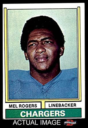 Amazon Com 1974 Topps 364 Mel Rogers San Diego Chargers