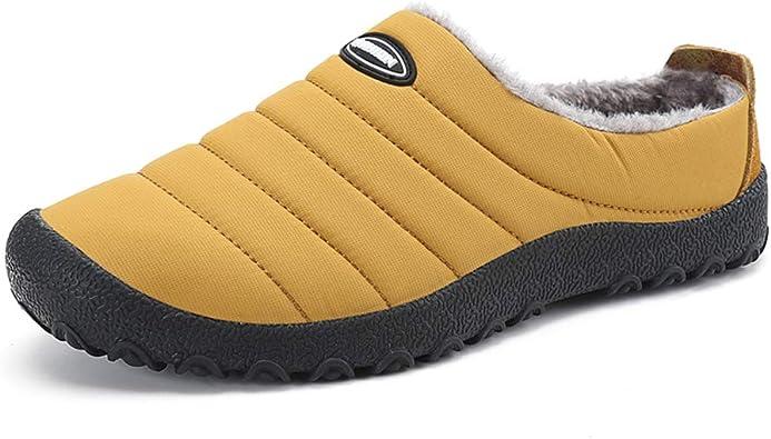 Piel Caliente Los Hombres Invierno Zapatos Polar Felpa Zapatillas Espesar Zapatillas Hogar AlgodóN Acolchado ...
