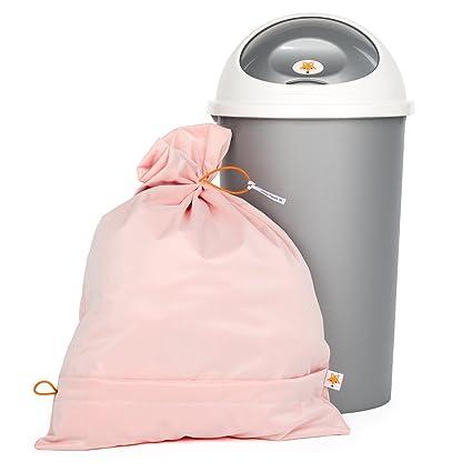 Foxy Baby® Saco de lavado y cubo para pañales de tela – Pack de ahorro