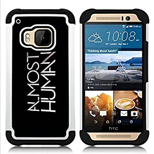 - AI Almost Human - - Doble capa caja de la armadura Defender FOR HTC ONE M9 RetroCandy