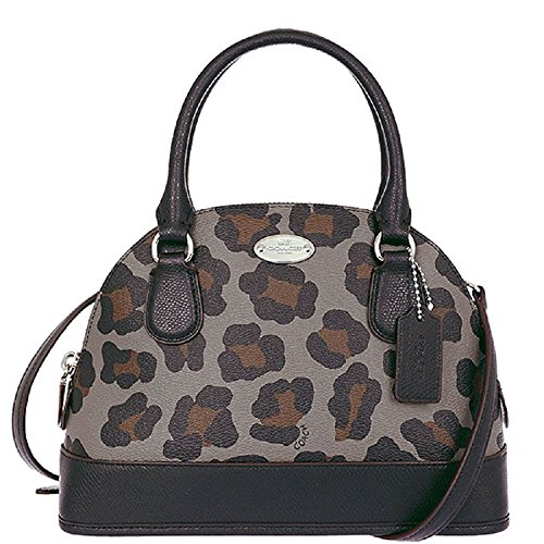Ocelot Satchel Mini Multi Coach Print Grey 36219 Dome Cora dFS8Xa8q