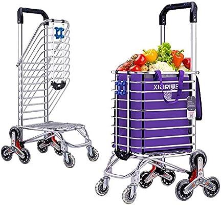 Cesta Carro de la Compra Escalera Escalada Mercado de los Agricultores Carro Escalera Escalada Multipropósito Supermercado plegable 8 Rueda , purple: Amazon.es: Deportes y aire libre