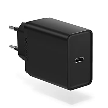 UGREEN 30W Cargador Rápido USB-C Power Delivery 2.0, Cargador USB PD Tipo C Carga Rápida para iPhone X / 8 Plus / 8, iPad Pro, Nexus 5X / 6P, Google ...