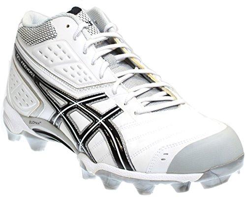ASICS Men's GEL-Provost Lacrosse Cleat,Black/Silver/White,10 M US