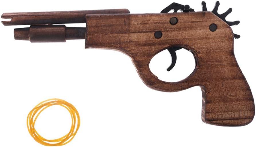 Simulación Bullet Rubber Band Launcher Madera Pistola Mano pistolas pistolas tiro juguete