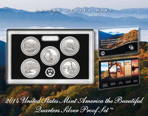 2014 S United States Mint America the Beautiful Quarters Silver Proof Set™ (State Quarter Annual)