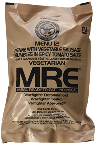 Ultimate 2018 US Military MRE Complete Meal Inspection Date January 2018 or Newer (Spicy Penne Pasta) - Vegetarian Penne Pasta