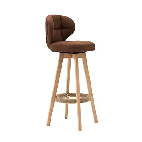 Brilliant Amazon Com Barstools Wooden Bar Stool Rotate Breakfast Machost Co Dining Chair Design Ideas Machostcouk