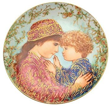 (Bradford Exchange c1988 Knowles Edna Hibel Sarah and Tess Plate Mothers Day Plate 1988 - TN148)