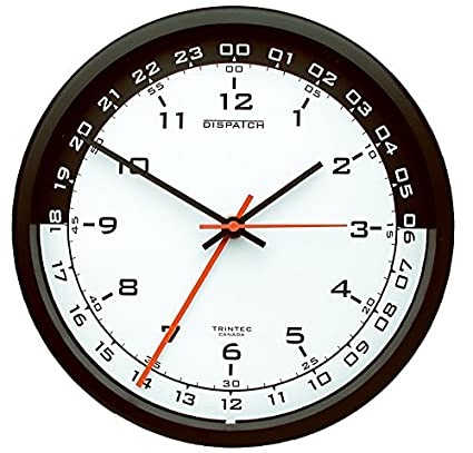 Military Time Clock >> Amazon Com Trintec 12 24 Hour Military Time Swl Zulu Time 24hr