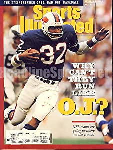 1990 O.J. Simpson Buffalo Bills Sports Illustrated