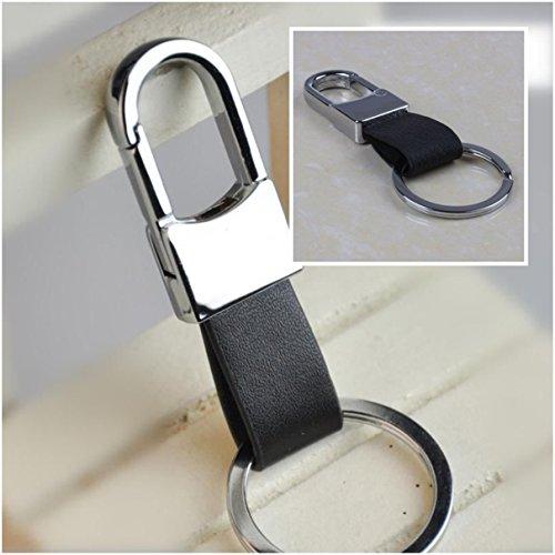 1Pc Impressive Unique Keychain Frames Mini Pocket Imitation Leather Leatherette Clip Holder Fashion Strap Alloy Multiple Tool Utility Accessories Wrist Finder Men Women Teen Teenagers Color Black ()