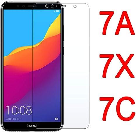 Wwjwf Vidrio Protector, para Huawei Honor 7A 7C Pro, Protector De ...