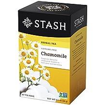 Stash Tea Chamomile Herbal Tea, 20 Tea Bags Per Box, Premium Herbal Tisane, Sweet Soothing Herbal Tea, Enjoy Hot or Iced