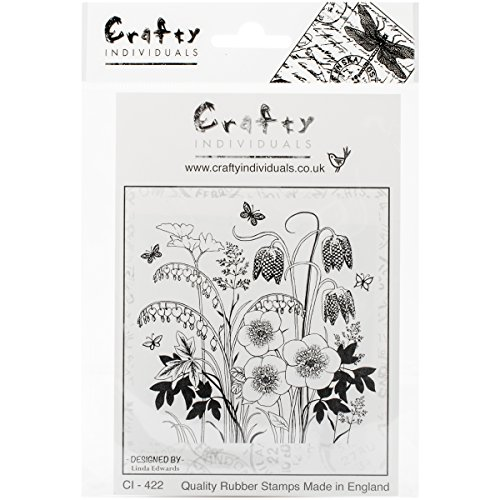 Crafty Individuals Unmounted Rubber Stamp, Spring Flower Garden