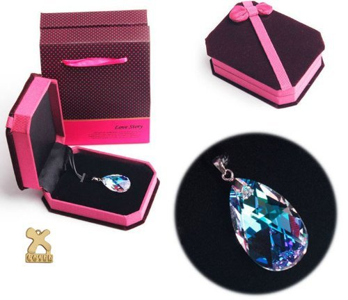 Sword Art Online Asuna Costume Cosplay Heart of Yui Swarovski Crystal Necklace Cosplay_Rim