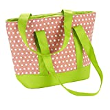 Fit & Fresh Anna Quilted Lunch Tote, Flamingo Dot
