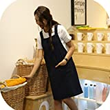 KKTech Chef Apron with Front Pockets, Japanese
