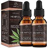 (2 Pack) Organic Hemp Oil Extract - 500,000MG Extra