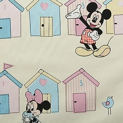 Diseño de casetas de playa Minnie crema Mickey Mouse oficial Disney para niños Pastel cortina de