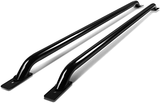 Pair of Stainless Steel Chrome Truck Side Bar Rail For C//K//Silverado//Ram 6.5ft Bed Cab