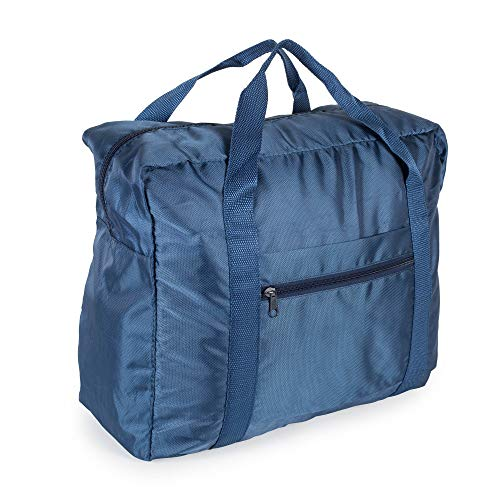 Lightweight Travel Weekender Duffle Bag for Carry On Luggage, Vacation, Sports, Yoga, Gym, and Storage – Blue
