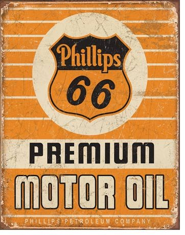 Phillips 66 Premium Oil Tin Sign 13 X 16In