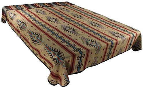 American Native Southwestern Pottery (Splendid Exchange Southwestern Bedding Bonita Collection, Mix and Match, King Size Reversible Bedspread, Anasazi Tan and Dark Brown)