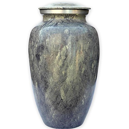 Beautiful Life Urns Apollonia Grey Adult Cremation Urn - Sophisticated Funeral Urn with a Stunning Faux Marble Finish (Large)