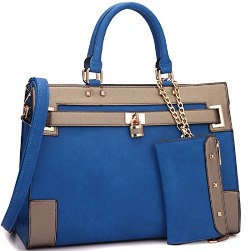 dasein-fashion-womens-top-handle-briefcase-satchel-bag-double-belted-padlock-work-handbag-w-coin-pur