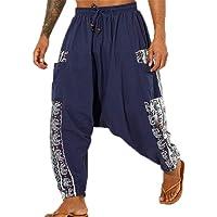 Pantalones Harem de Hombre con Entrepierna Ancha y Pantalones Ninja, Pantalones Harem para Hombre Pantalones Holgados de…