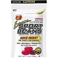 Jelly Belly Sport Beans with Caffeine [8-Pack] Extreme Assorted Sport Beans (Cherry, Watermelon and Pomegranate) 8 pack…