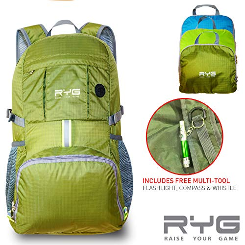b952ad51f8 Raise Your Game RYG Packable Lightweight Travel Backpack