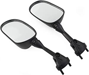 Three T Rear View Side Mirrors Compatible with Kawasaki Ninja ZX-6R 2005-2008, ZX-10R 2004-2010