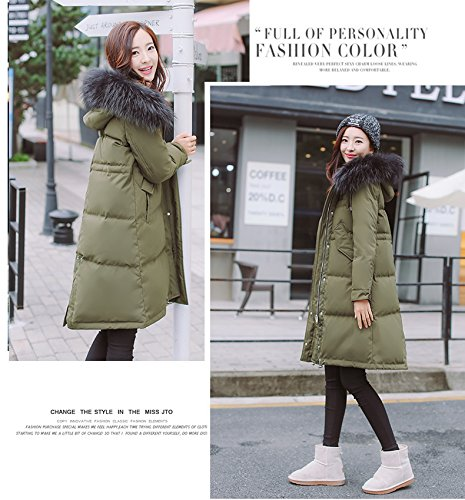 Generic Special-season Korean new long section thick winter jacket female loose waist was thin oversized fur collar coat for women girl by Generic (Image #6)