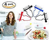 Upgraded Magic Trio Peeler (Set of 4), Vegetable Peeler, Stainless Steel Blades with Non-Slip Handles Peeler For Potato Fruit (4 Pack)