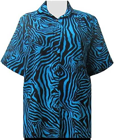 A Personal Touch Blue Zebra Women's Plus Size Blouse