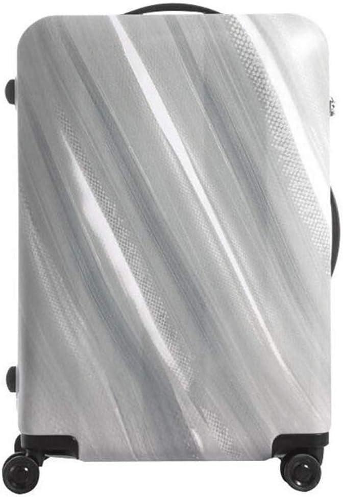 A-Lnice Caja de la Carretilla de Plata Ligero de la Manera Maleta Maleta del Equipaje Ocho Rueda giratoria Doble de la Cremallera del Estuche rígido